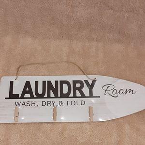 Laundry Room Wash, Dry, & Fold Wooden Laundry Room